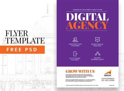digital agency flyer template free psd in photoshop psd