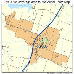 aerial photography map of salado tx