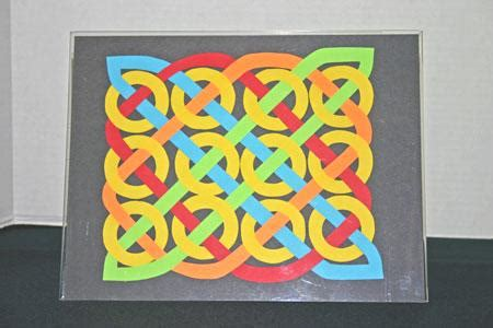 Easy Crafts To Do With Construction Paper - funezcrafts easy paper crafts celtic design 12 circles