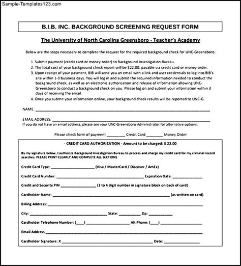 Free Background Check Free Pdf Background Check Form Sle Templates Sle Templates