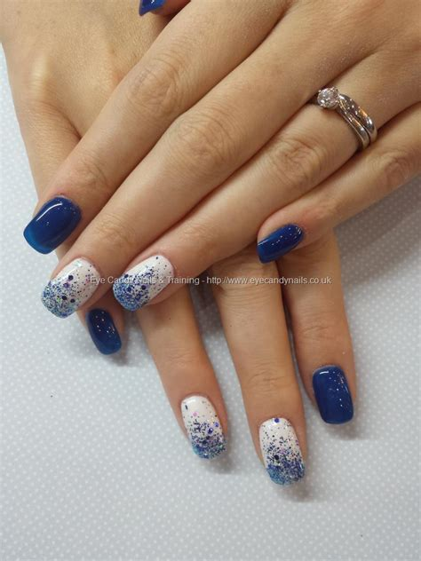 Home Design Color Trends 2014 gel nails blue and white nail paint design