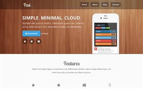 bootstrap themes iphone fasi responsive mobile app theme bootstrap responsive themes