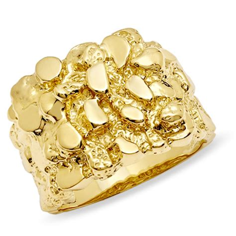 gold nugget rings wedding promise