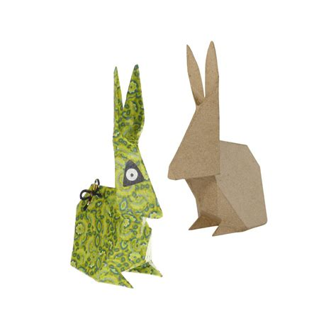 How To Make Paper Mache Uk - paper mache origami rabbit sa152 paper mache bases and