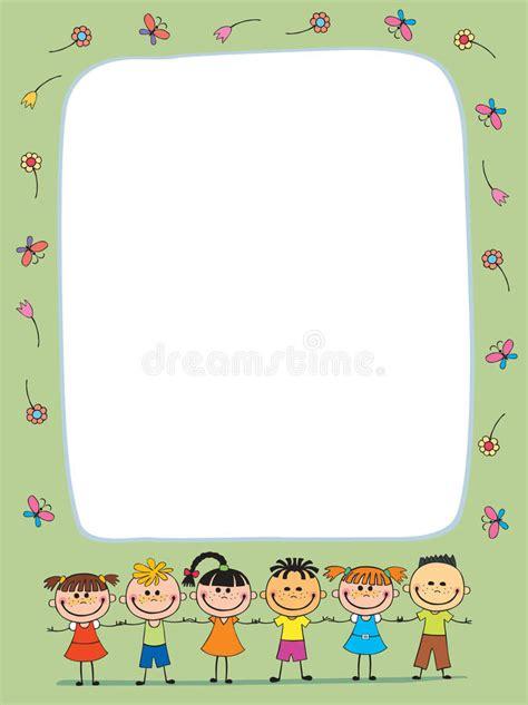 vector background blank  kids summer camp stock vector illustration  childhood camp