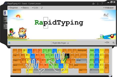 tutorial computer keyboard typing portable rapidtyping 5 2