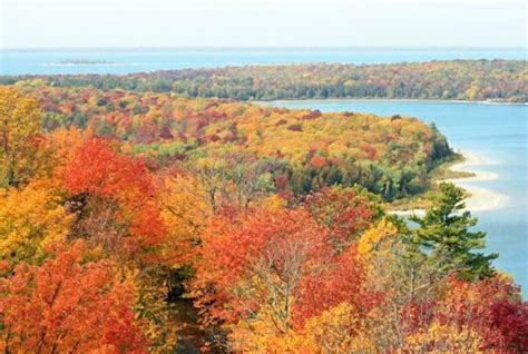 Things To Do In Door County In October by Fall Colors From Eagle Tower Picture Of Peninsula State