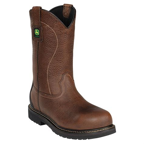 deere work boots for deere 174 11 quot wct steel toe pull on work boots 627675