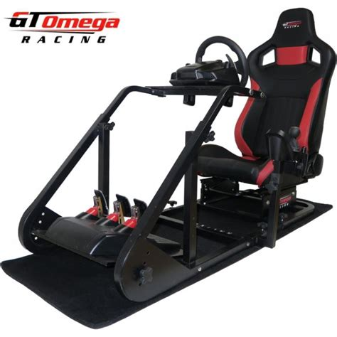 gaming chair with wheels gt omega racing simulator cockpit rs6 seat