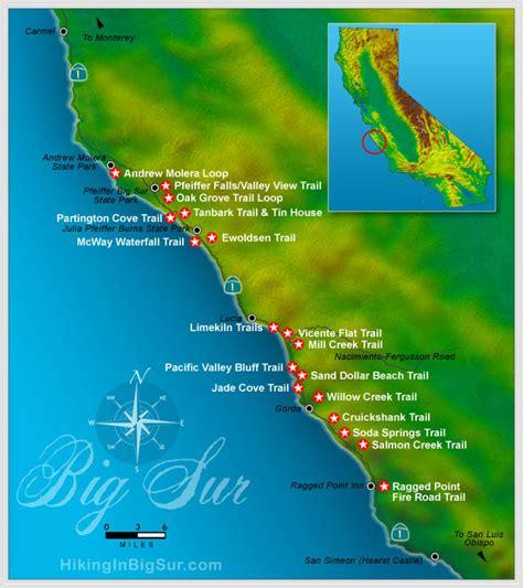 big sur map west coast 05 2011 06 2011