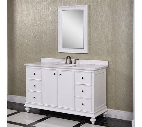 Accos 60 inch White Finish Bathroom Vanity Cabinet with