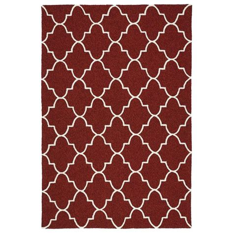 Shop Kaleen Escape Red Rectangular Indoor Outdoor Indoor Outdoor Rugs 9x12