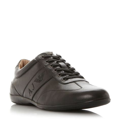 armani shoes armani 0935534 slimline trainers in brown for lyst