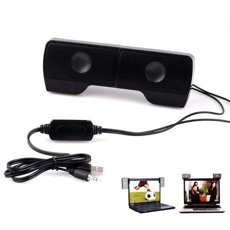 Speaker External Untuk Laptop Portable External Hanging Usb Speaker Stereo Player For Notebook Laptop Uk Ebay