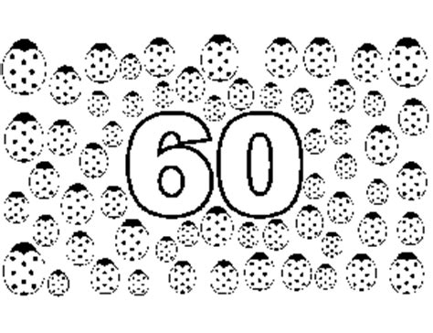 60 Coloring Page by 60 Bugs Coloring Page