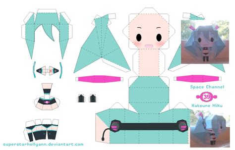 Papercraft Dolls - miku space channel 39 by superstarhollyann on deviantart