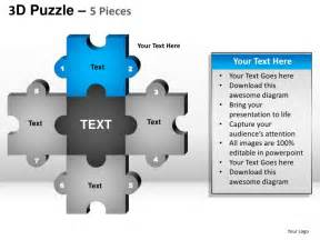 4 puzzle template 5 puzzle pieces powerpoint presentation templates