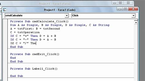 calculator visual basic how to create a calculator using visual basic 6 part 2 2