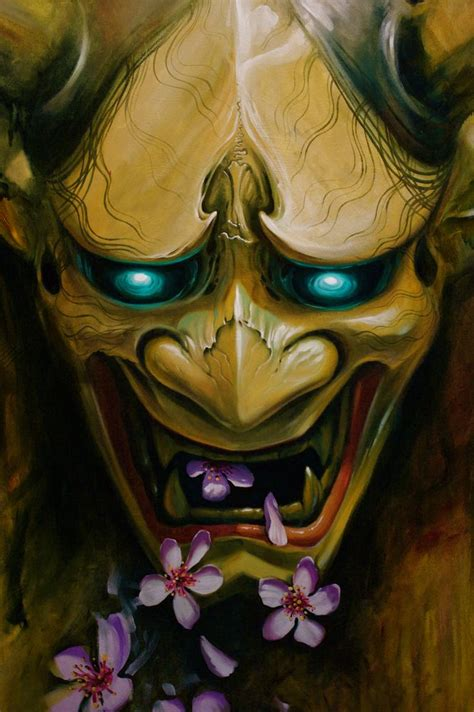 hannya mask tattoo wallpaper like alot the eyes the clear imperfections in the wood