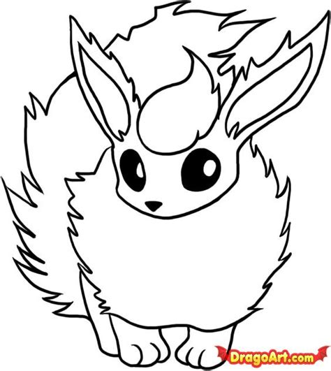 how to draw flareon step by step pokemon characters