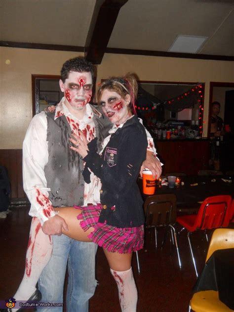 homemade zombie couple costume idea
