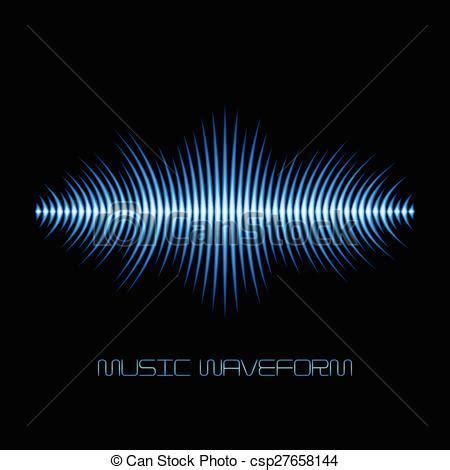 test pattern sound effect eps vector of blue sound waveform with sharp edges blue