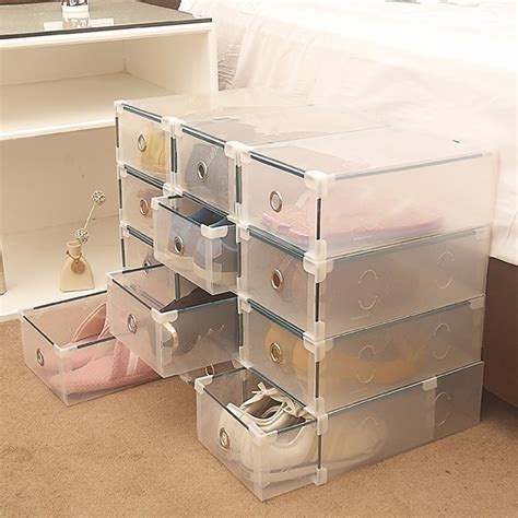 storage bins for shoes storage box drawer shoes wrapped plastic type transparent