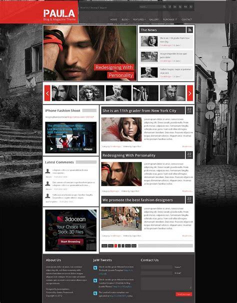 Theme Blog Joomla | paula blog magazine joomla theme by jawtemplates