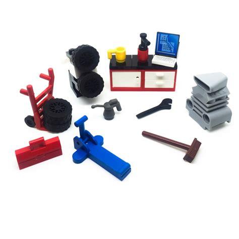 lego city square mechanic garage workshop tools