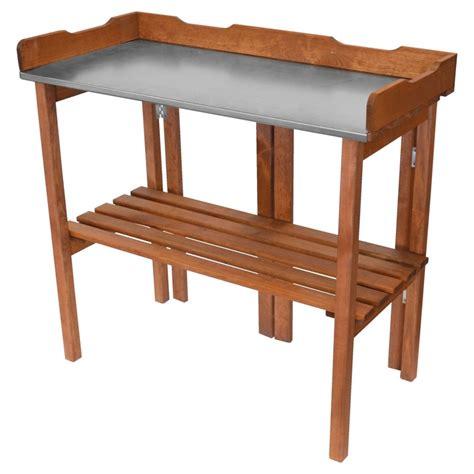 Tisch Arbeitsplatte by Pflanztisch 90x40x86cm Holz Tisch Klappbar Verzinkte