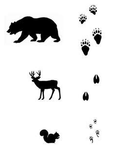 Free Animal Tracks Matching Game Printables | Nature