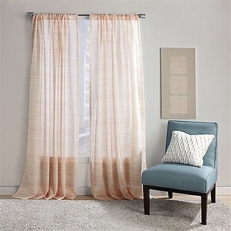 striped door curtain dawn stripe rod pocket sheer window curtain panel bed
