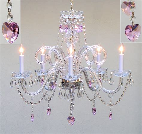 pretty pink chandelier for room homesfeed