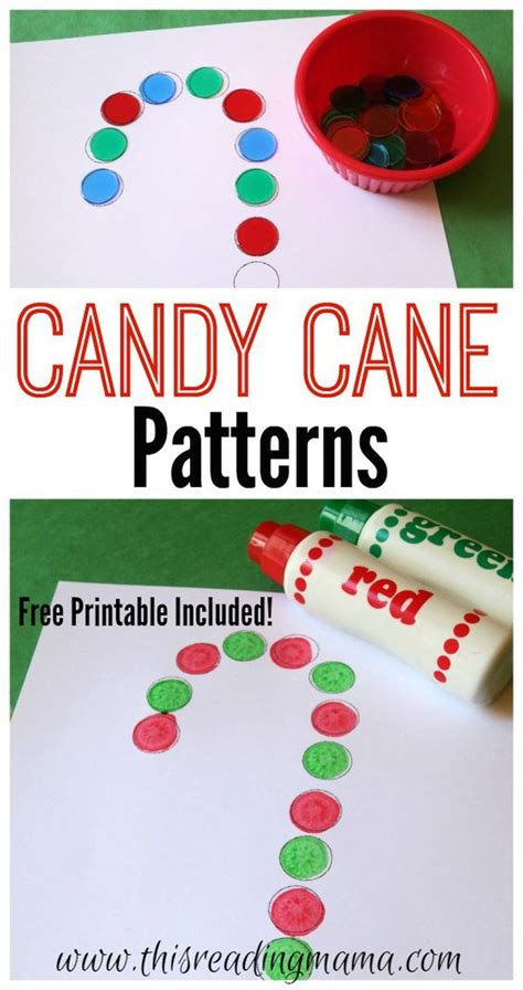 christmas pattern maths candy cane patterns free printable candy canes candy