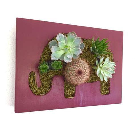 elephant wall planter succulent elephant espresso colored wood https www