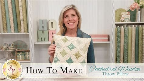 how to make a cathedral window pillow a shabby fabrics quilting tutorial youtube