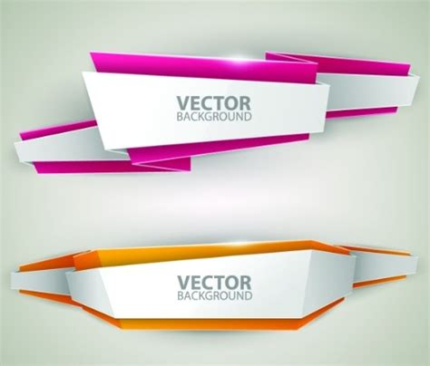 vector banner colored ribbon design free vector in 25 beautiful free vector banners