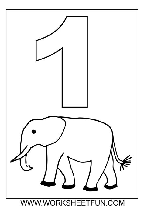 numbers colouring sheets only coloring pages