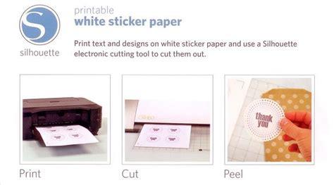 printable white sticker paper silhouette silhouette printable white sticker paper ebay