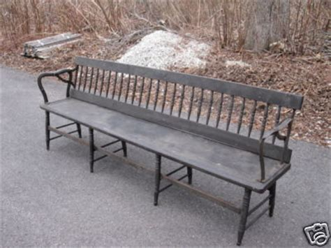trolley bench rare providence r i trolley bench w reversible back