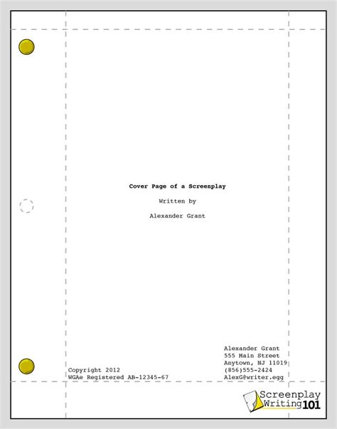 script title page template 1000 images about screenplay format on cover