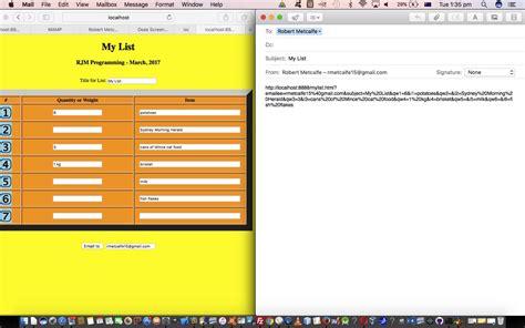 tutorial web application list web application primer tutorial robert james