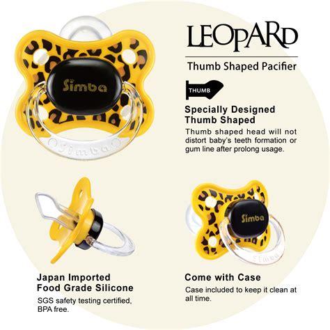 jual murah simba leopard thumb shaped pacifier 6m feeding