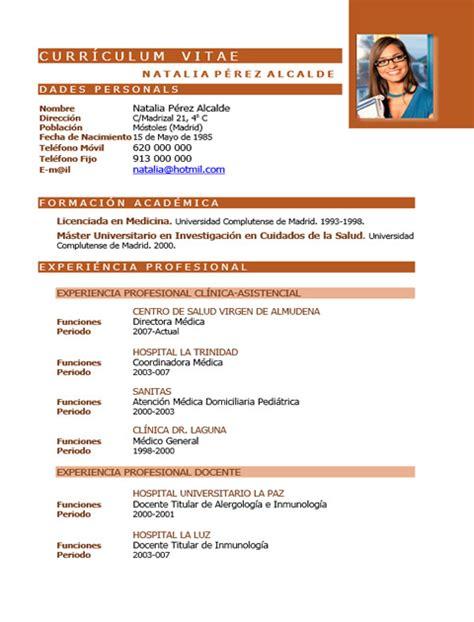 Modelo Curriculum Vitae Medico Recien Egresado Elaboraci 243 N Curriculum De M 233 Dicos O Enfermeras Plantillas De Cv Para Hospitales Cvexpres