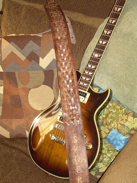 leather guitar handmade quot the crossroads quot reverb