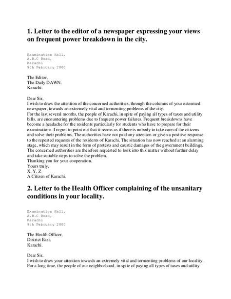 Letters Letter Newspaper Format