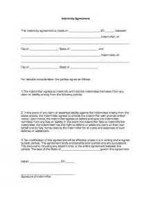 Indemnity Agreement Template Indemnity Agreement Business Forms