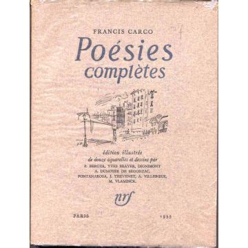 poesies completes po 233 sies compl 232 tes francis carco nrf