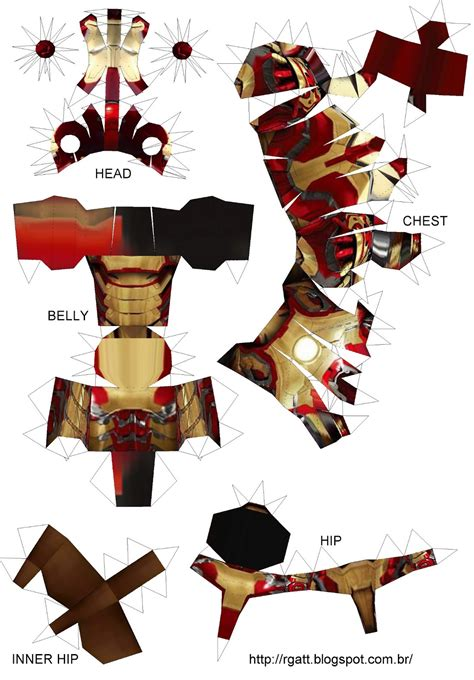 Ironman Papercraft - pin papercraft iron on