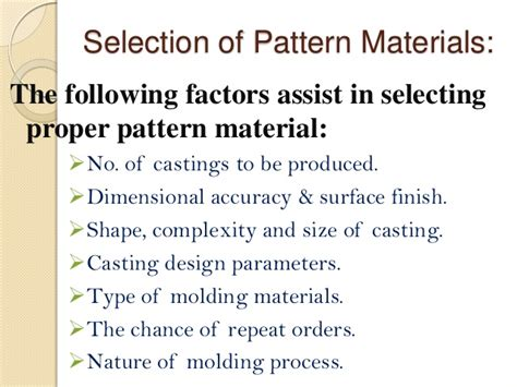 pattern types in manufacturing manufacturing technology foundary